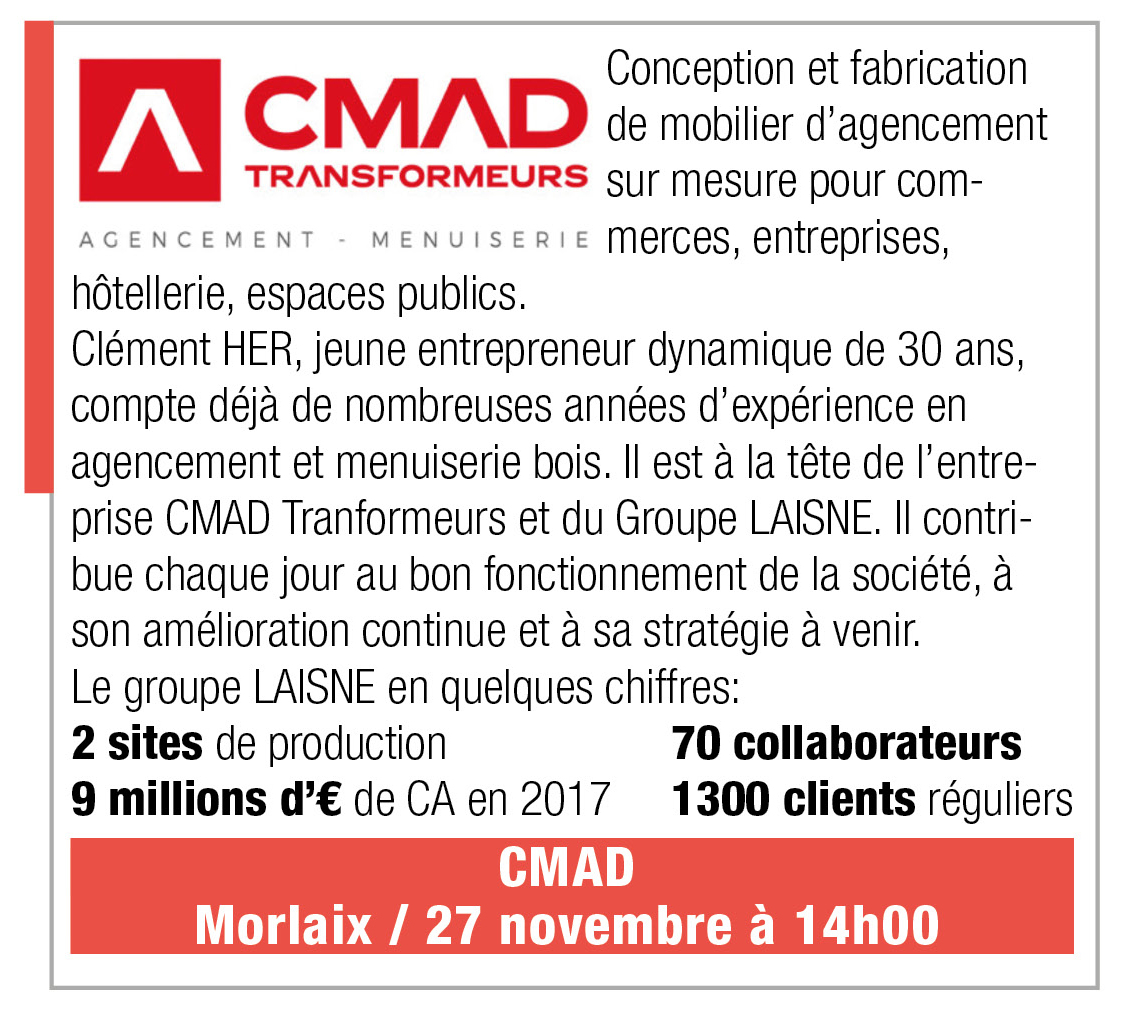Inscription CMAD, 27 novembre 2019, 14h, Morlaix