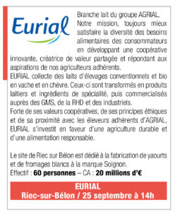 Inscription Eurial, 25 septembre 2019, 14h, Riec sur Belon