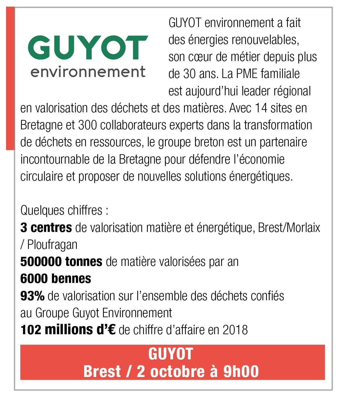 Inscription Guyot Environnement, 2 octobre 2019, 9h, Brest