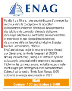 Inscription ENAG, 30 sept., 9h00, Quimper