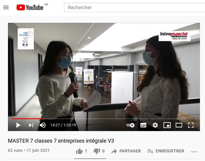 Videos 7 classes 7 entreprises