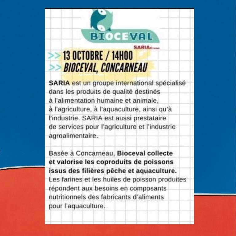 Inscription Bioceval – Mercredi de l'entreprise, 13 oct. 14h00 Concarneau