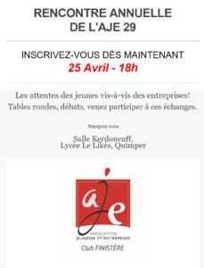 Rencontre Annuelle de l'AJE 29 – Les attentes des jeunes vis-à-vis des entreprises !