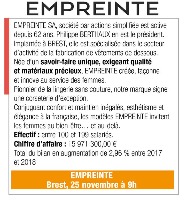 Inscription Empreinte, 25 nov., 9h00, Brest