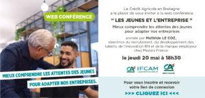 Invitation web conférence « Les jeunes & l'entreprise » le 20 mai à 18h30